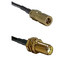 SLB Female on RG188 to SMA Female Bulkhead Cable Assembly