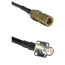SLB Female on RG400 to BNC 4 Hole Female Cable Assembly