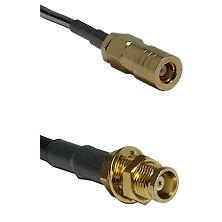 SLB Female on RG58C/U to MCX Female Bulkhead Cable Assembly