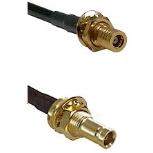 SLB Female Bulkhead on LMR100 to 10/23 Female Bulkhead Cable Assembly
