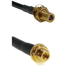 SLB Female Bulkhead on LMR100 to MMCX Female Bulkhead Cable Assembly