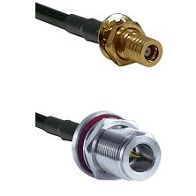 SLB Female Bulkhead on LMR-195-UF UltraFlex to N Reverse Polarity Female Bulkhead Coaxial Cable Asse
