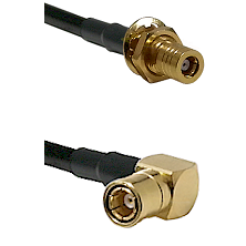 SLB Female Bulkhead on LMR-195-UF UltraFlex to SMB Right Angle Female Cable Assembly