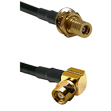 SLB Female Bulkhead on LMR-195-UF UltraFlex to SMC Right Angle Female Cable Assembly