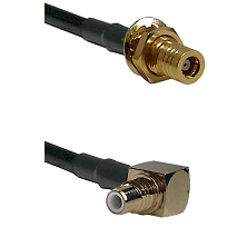 SLB Female Bulkhead on LMR-195-UF UltraFlex to SMC Right Angle Male Cable Assembly