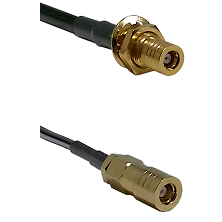 SLB Female Bulkhead on LMR-195-UF UltraFlex to SLB Female Cable Assembly