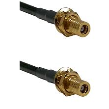 SLB Female Bulkhead on LMR-195-UF UltraFlex to SLB Female Bulkhead Cable Assembly