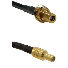 SLB Female Bulkhead on LMR-195-UF UltraFlex to SLB Male Cable Assembly