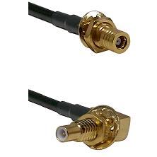 SLB Female Bulkhead on LMR-195-UF UltraFlex to SLB Male Bulkhead Cable Assembly