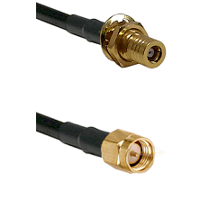 SLB Female Bulkhead on LMR-195-UF UltraFlex to SMA Male Cable Assembly