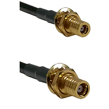 SLB Female Bulkhead on LMR-195-UF UltraFlex to SMB Female Bulkhead Cable Assembly