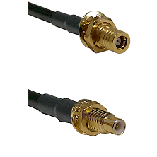 SLB Female Bulkhead on LMR-195-UF UltraFlex to SMC Male Bulkhead Cable Assembly