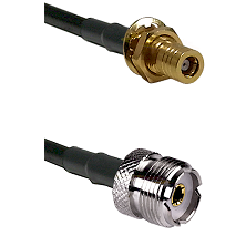SLB Female Bulkhead on LMR-195-UF UltraFlex to UHF Female Cable Assembly