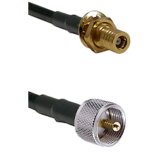 SLB Female Bulkhead on LMR-195-UF UltraFlex to UHF Male Cable Assembly