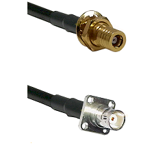 SLB Female Bulkhead on LMR200 UltraFlex to BNC 4 Hole Female Cable Assembly