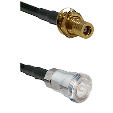 SLB Female Bulkhead on RG142 to 7/16 Din Female Cable Assembly