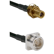 SLB Female Bulkhead on RG142 to 7/16 4 Hole Female Cable Assembly