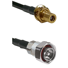 SLB Female Bulkhead on RG142 to 7/16 Din Male Cable Assembly