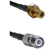 SLB Female Bulkhead on RG142 to TNC Reverse Polarity Female Cable Assembly