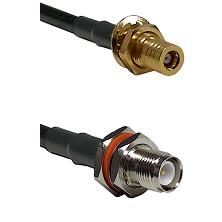 SLB Female Bulkhead on RG142 to TNC Reverse Polarity Female Bulkhead Cable Assembly