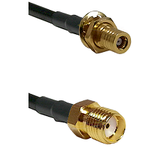 SLB Female Bulkhead on RG142 to SMA Female Cable Assembly