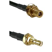 SLB Female Bulkhead on RG142 to SMB Male Bulkhead Cable Assembly