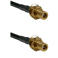 SLB Female Bulkhead on RG188 to SLB Female Bulkhead Cable Assembly