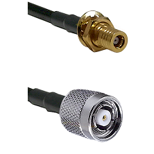 SLB Female Bulkhead on RG316 to TNC Reverse Polarity Male Cable Assembly