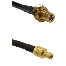 SLB Female Bulkhead Connector On RG316DS Double Shielded To SMB Male Connector Coaxial Cable Assemb