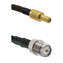 SLB Male on LMR100 to Mini-UHF Female Cable Assembly