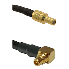SLB Male on LMR100 to MMCX Right Angle Male Cable Assembly