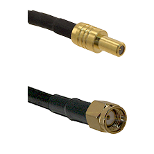 SLB Male on LMR100 to SMA Reverse Polarity Male Cable Assembly