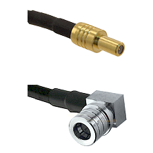 SLB Male on LMR100 to QMA Right Angle Male Cable Assembly