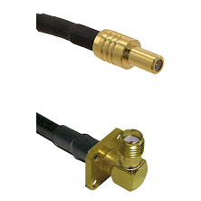 SLB Male on LMR100 to SMA 4 Hole Right Angle Female Cable Assembly