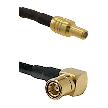 SLB Male on LMR100/U to SMB Right Angle Female Cable Assembly