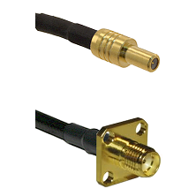 SLB Male on LMR100 to SMA 4 Hole Female Cable Assembly