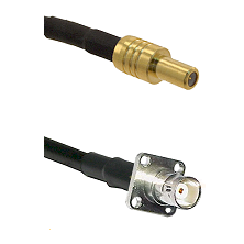 SLB Male on LMR-195-UF UltraFlex to BNC 4 Hole Female Cable Assembly