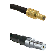 SLB Male on LMR-195-UF UltraFlex to QMA Female Cable Assembly