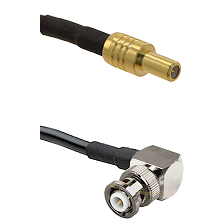 SLB Male on LMR-195-UF UltraFlex to MHV Right Angle Male Cable Assembly