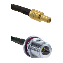 SLB Male on LMR-195-UF UltraFlex to N Reverse Polarity Female Bulkhead Cable Assembly