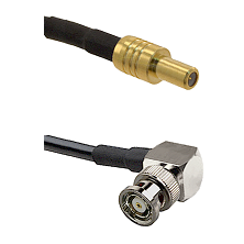 SLB Male on LMR-195-UF UltraFlex to BNC Reverse Polarity Right Angle Male Cable Assembly