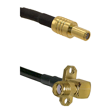 SLB Male on LMR-195-UF UltraFlex to SMA 2 Hole Right Angle Female Cable Assembly