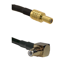 SLB Male on LMR-195-UF UltraFlex to SMC Right Angle Male Cable Assembly