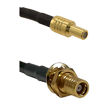 SLB Male on LMR-195-UF UltraFlex to SMB Female Bulkhead Cable Assembly