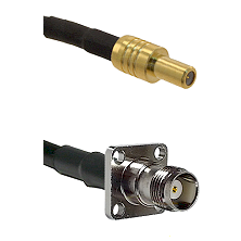 SLB Male on LMR-195-UF UltraFlex to TNC 4 Hole Female Cable Assembly
