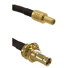 SLB Male on RG142 to 10/23 Female Bulkhead Cable Assembly