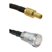 SLB Male on RG142 to 7/16 Din Female Cable Assembly