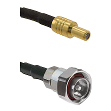 SLB Male on RG142 to 7/16 Din Male Cable Assembly