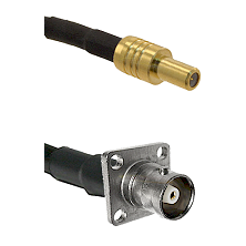 SLB Male on RG142 to C 4 Hole Female Cable Assembly