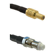 SLB Male on RG142 to FME Female Cable Assembly